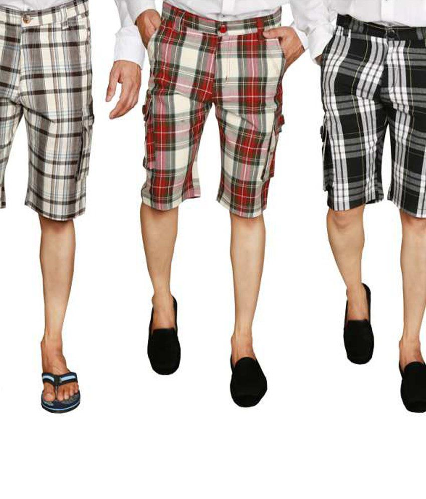 Jafar Cotton Shorts Set Of 3