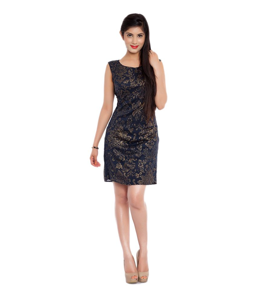 Swagspoon Black & Golden Shimmer Party Wear Dress - Buy Swagspoon ...
