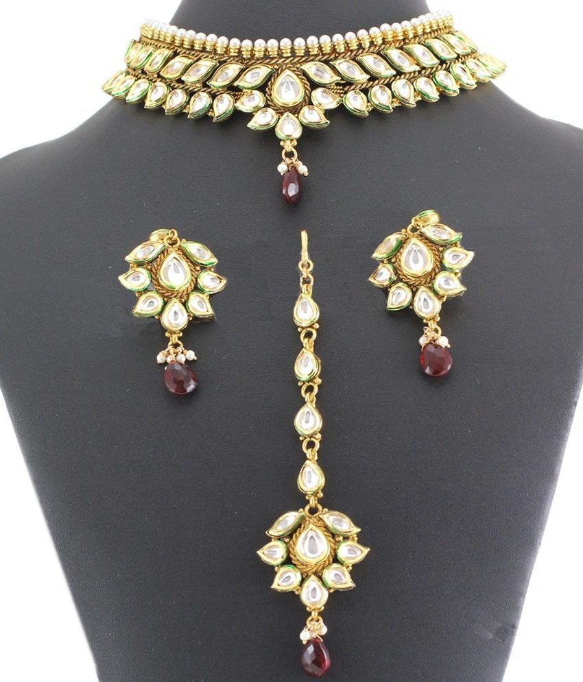 Artificial Jewellery Sets For Wedding: 925 Silver Designer Artificial Bridal Necklace Jewelry Set