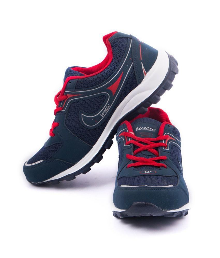 Asian Navy Blue & Red Eva Sport Shoes For Men - Buy Asian ...
