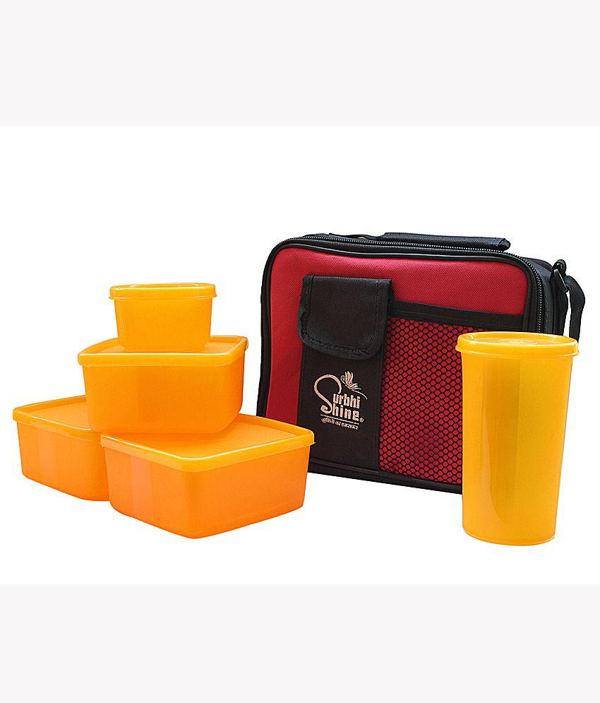 Kitchen Kraft Lunch Box Set Of 6 Yellow: Buy Online At