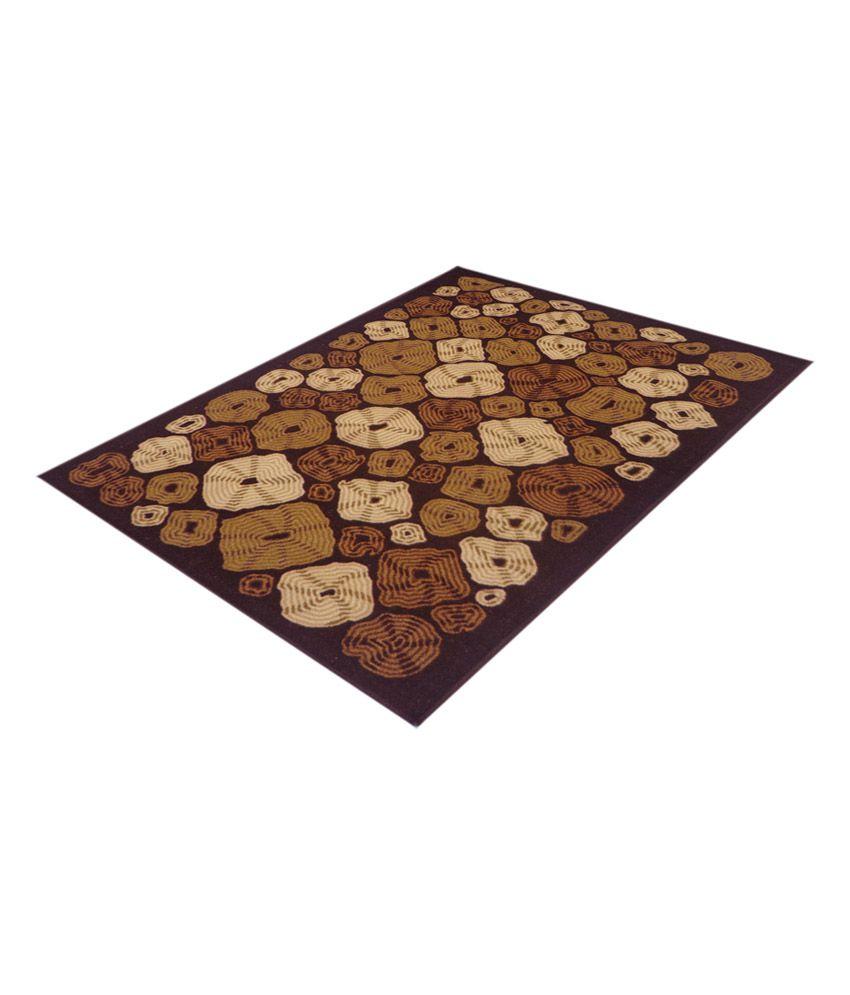 Status Red Printed Mat And Carpet
