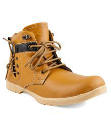 Zapatoz Tan Boots For Men