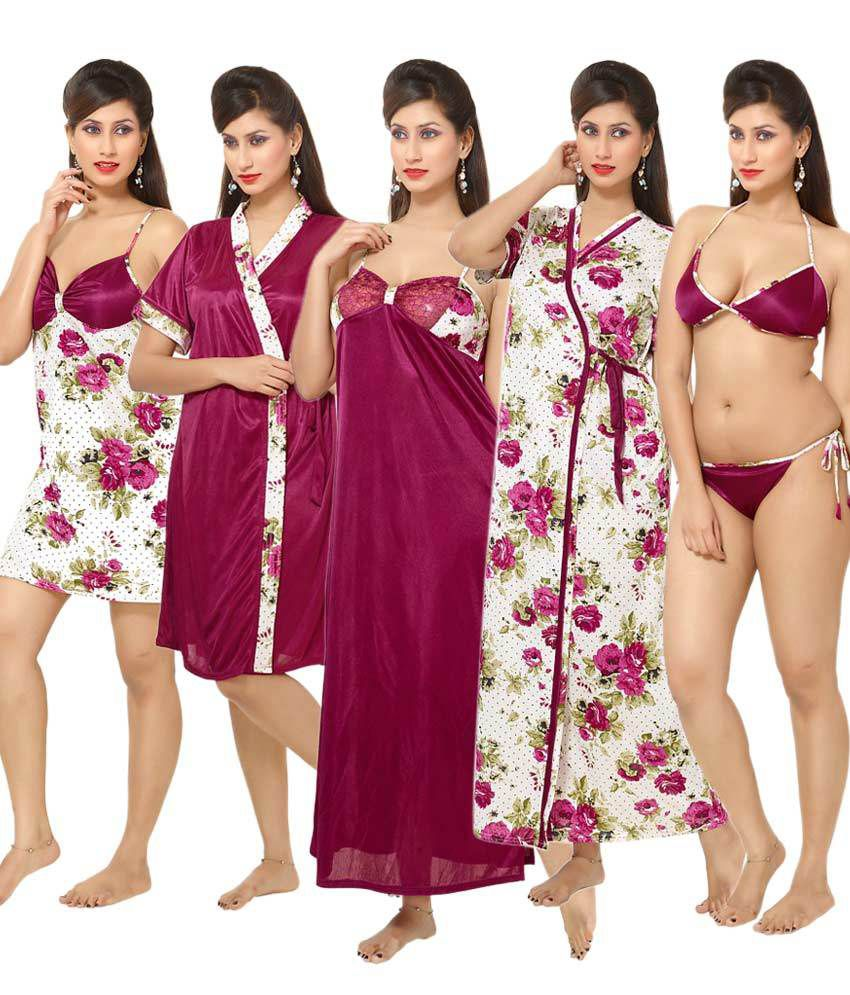 7998694ffb Go Glam Women s Solid Pink Top   Pyjama Set Price in India