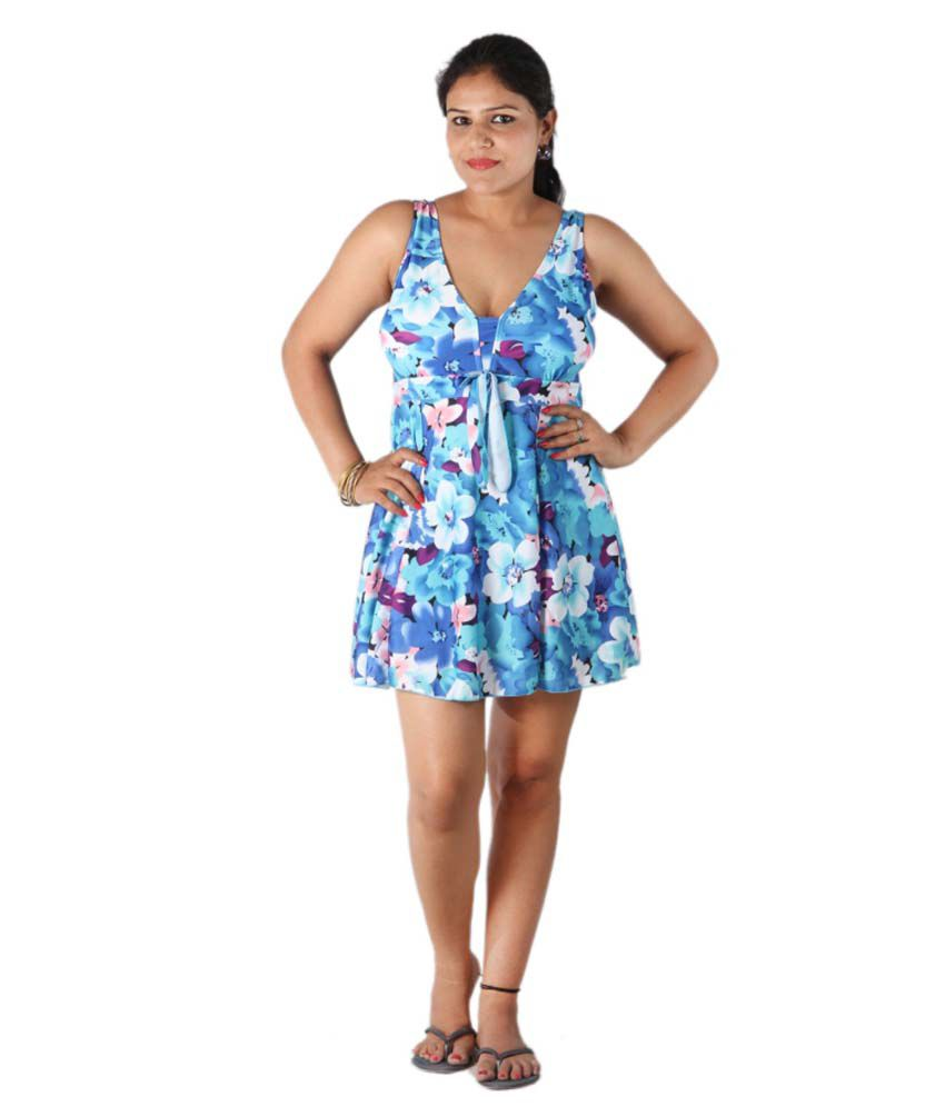 Indraprastha Floral Vintage Print Swimsuit/ Swimming Costume