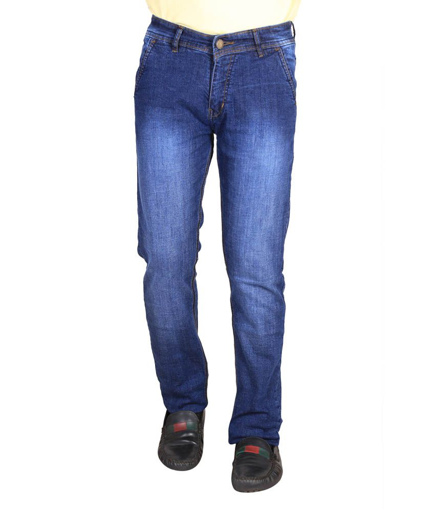 Res-Q Cotton Regular Fit Blue Jeans