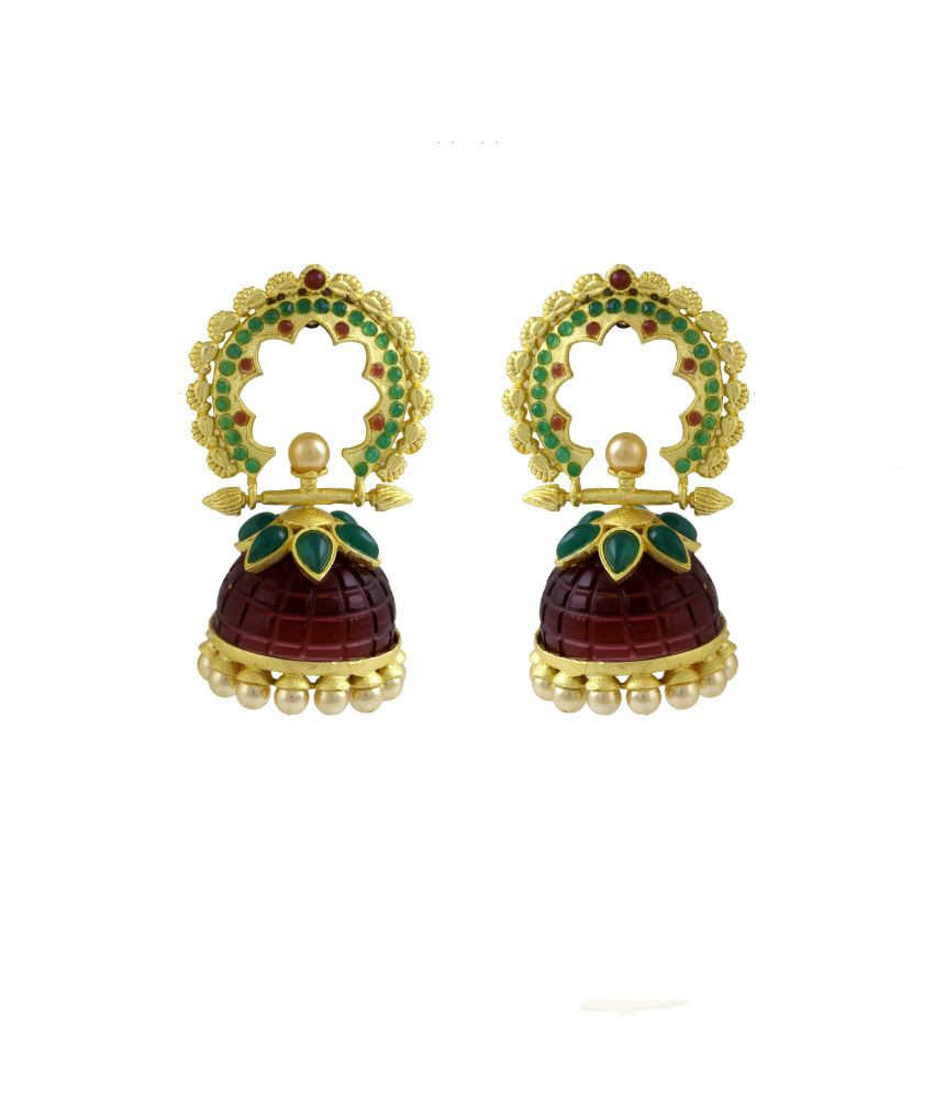 Designer Imittation Jewellery Gold Antique Hangings