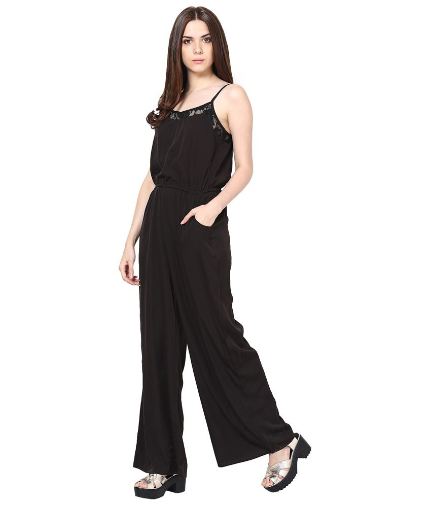 dc67cd7f211f Harpa Black Crepe Jumpsuit - Buy Harpa Black Crepe Jumpsuit Online ...