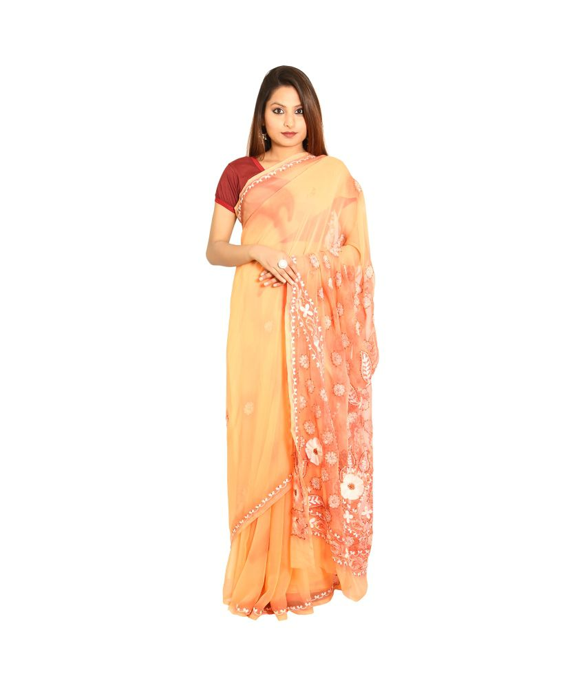 Nimmi Multi Color Pure Georgette Saree
