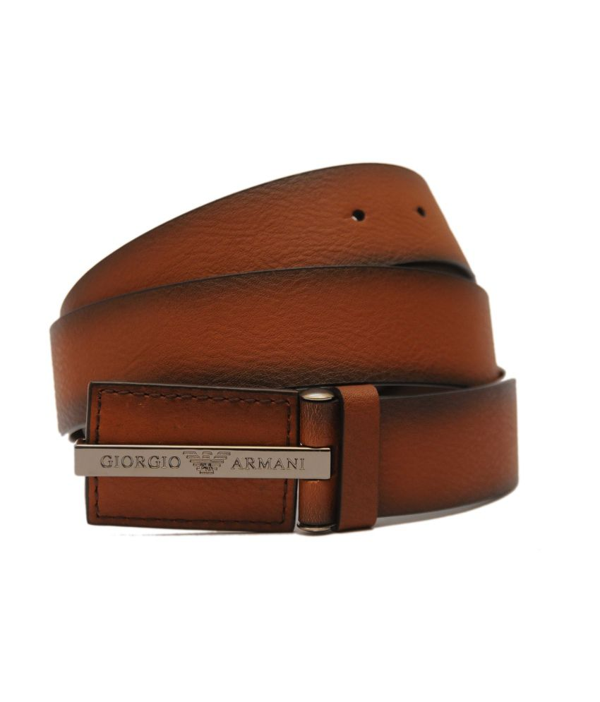High Quality Brown Leather Casual Belt
