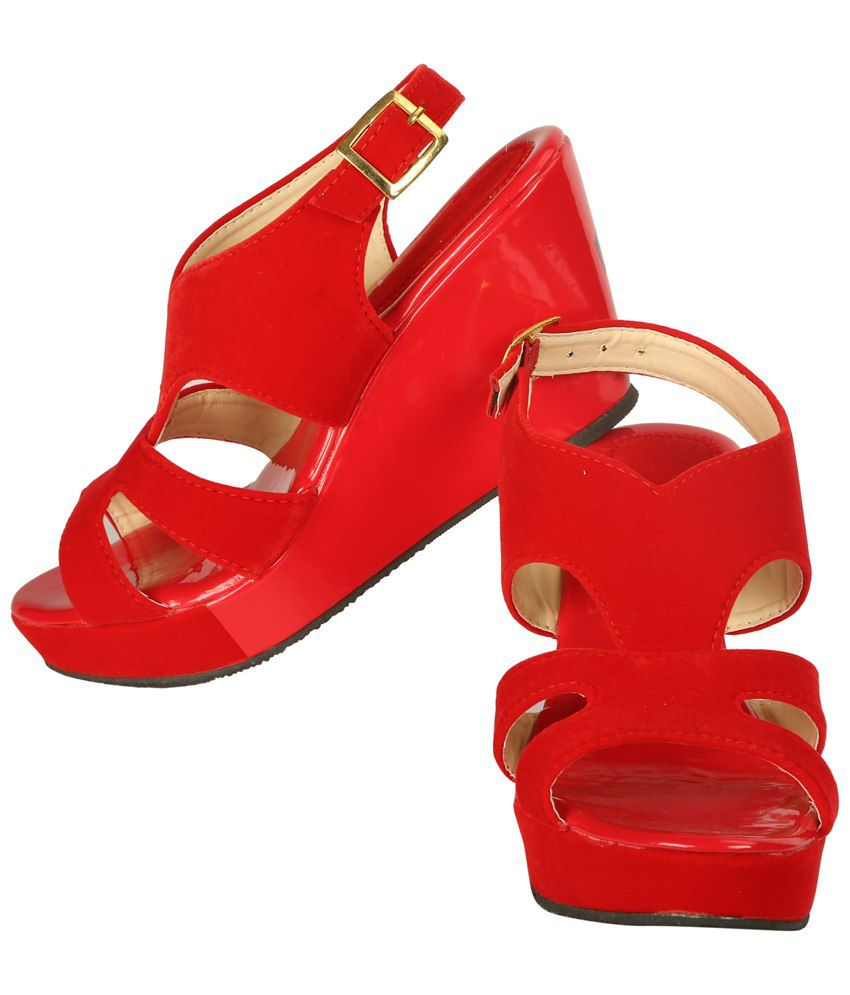 95bd261543f Zachho Adorable Red Wedge Sandals Zachho Adorable Red Wedge Sandals ...