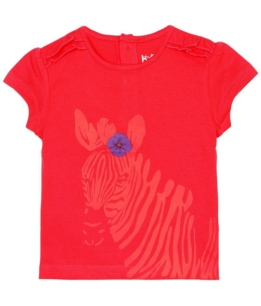 Baby Pure Infant Girls Red T Shirt With Print Buy Baby