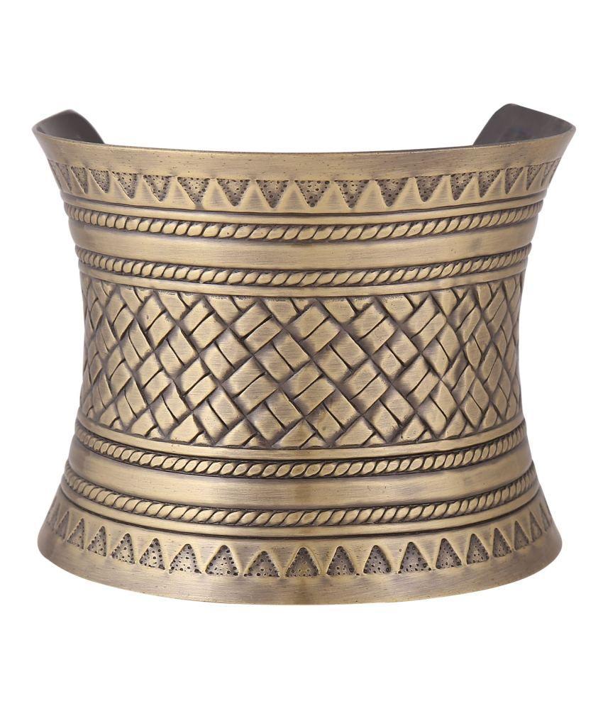 Notjustiaras Antique Gold Bohemian Hand Cuff Alloy Bracelet