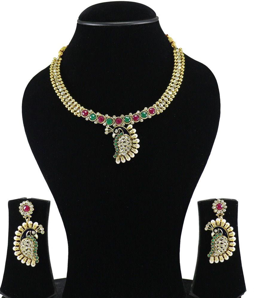 Youbella Multicolour Traditional Designer Necklace Set