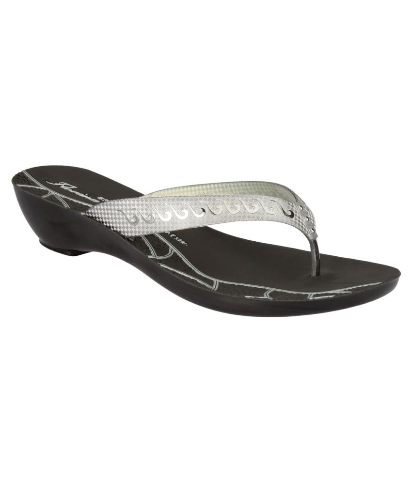 Action Florina Gray Slippers For Women