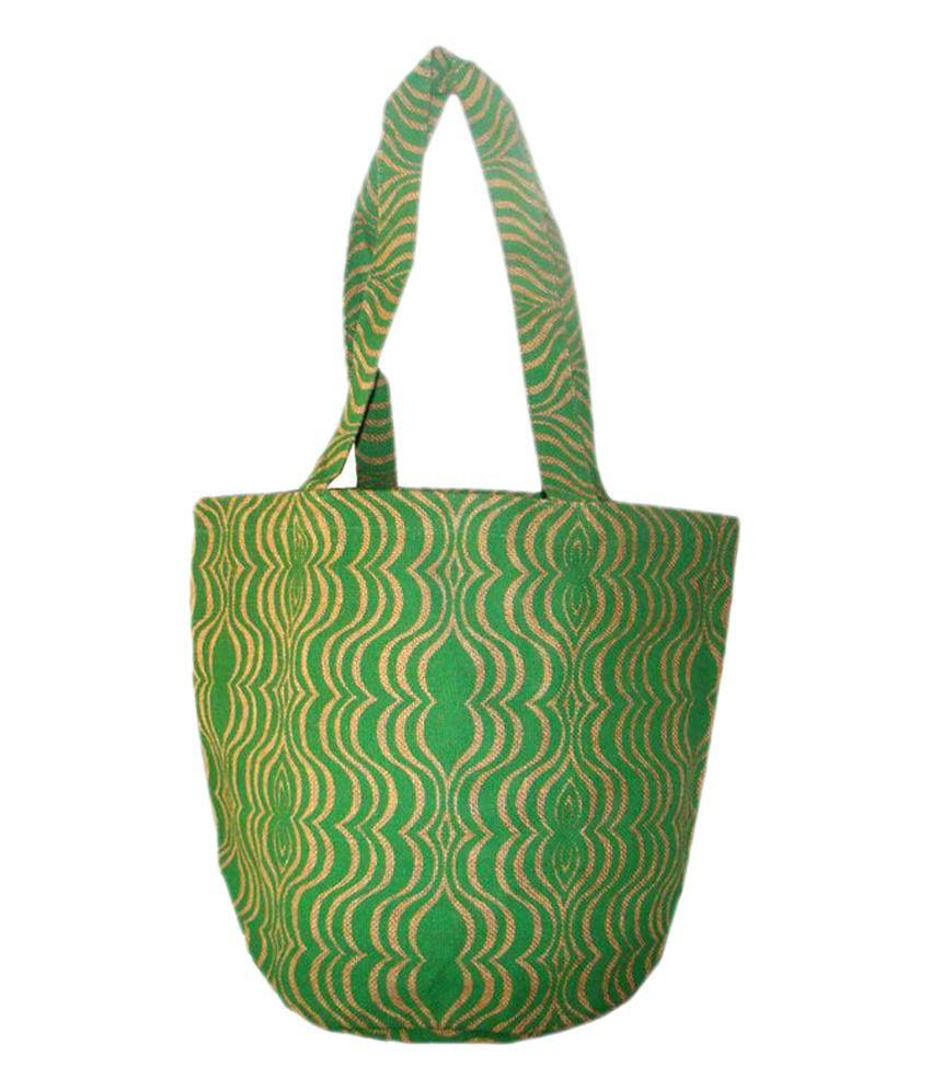 Foonty Green Jute Bag