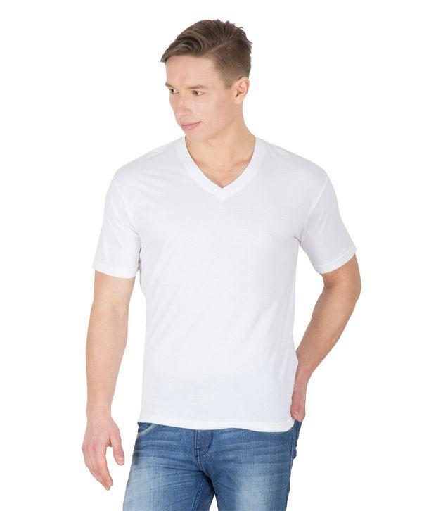 Hypernation White Cotton T-shirt
