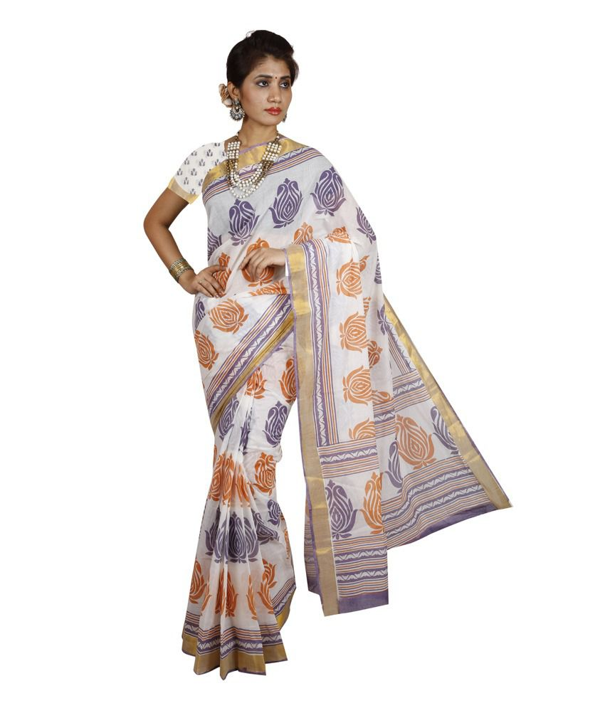 KANHEYAS Multi Color Cotton Saree