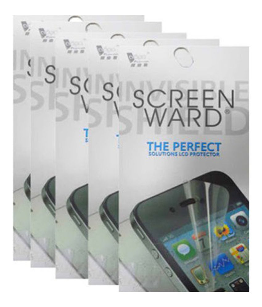 Screenward Clear Screen Guard for Apple Iphone 4 (2in1) - Pack of 5