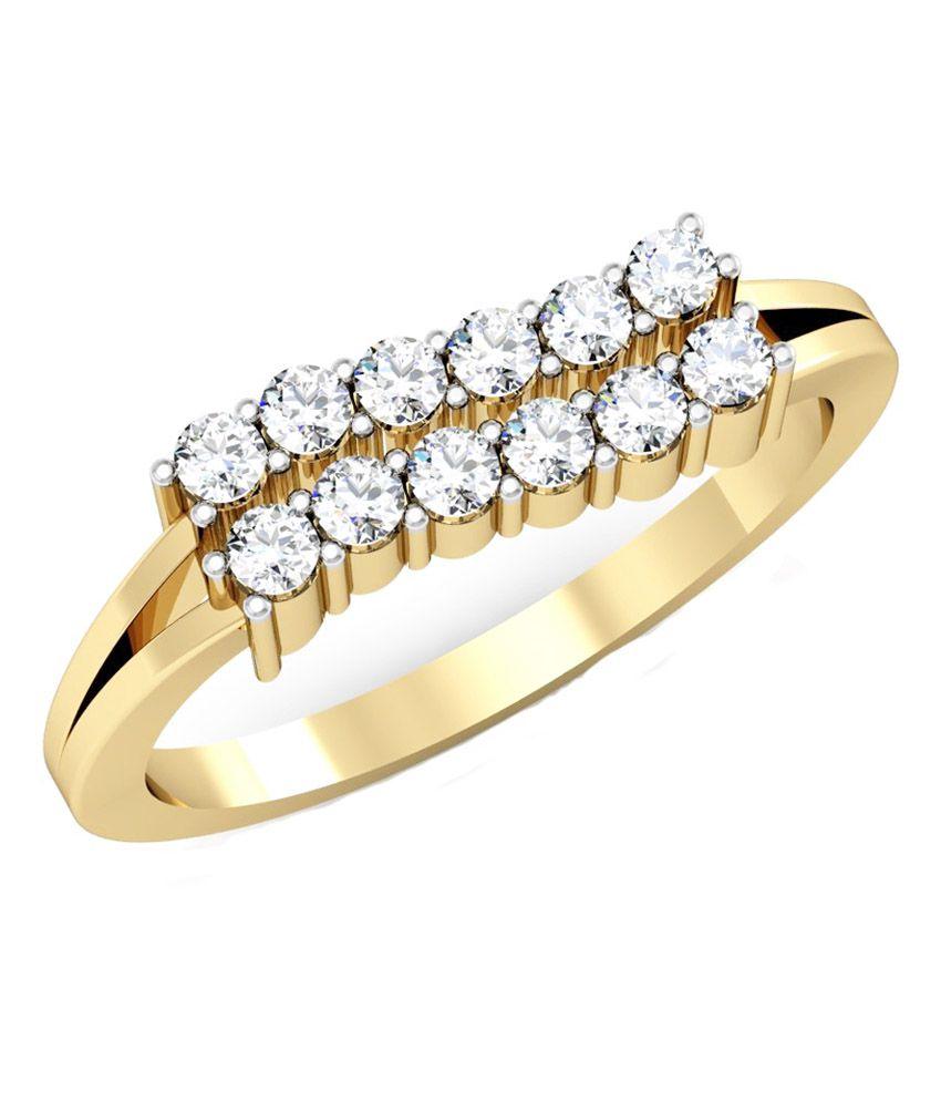 Vachya 14kt Gold Traditional Diamond Ring