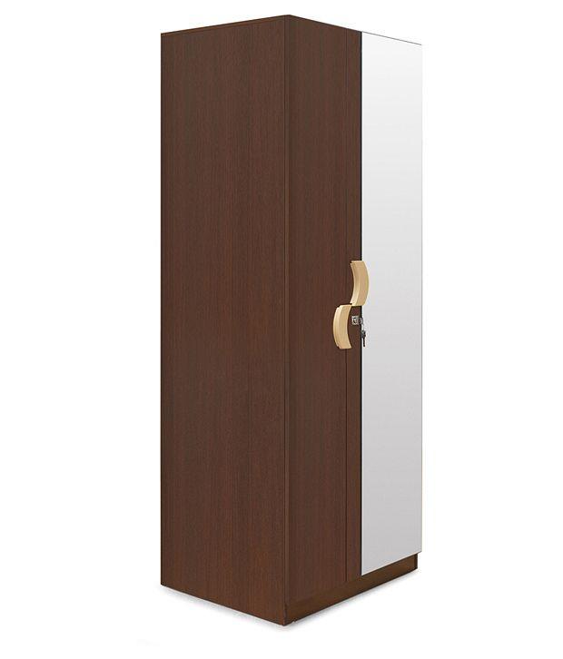 Aveeno 2 door big wardrobe with mirror buy online rs for Big door mirror