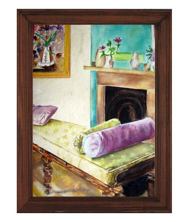 D.B.A Still Life Painting with Frame