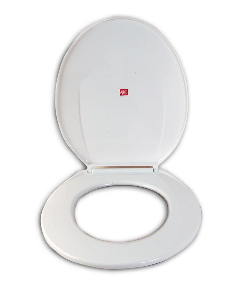 Toilet Flush Cover : Buy star flush white toilet seat cover online at low price