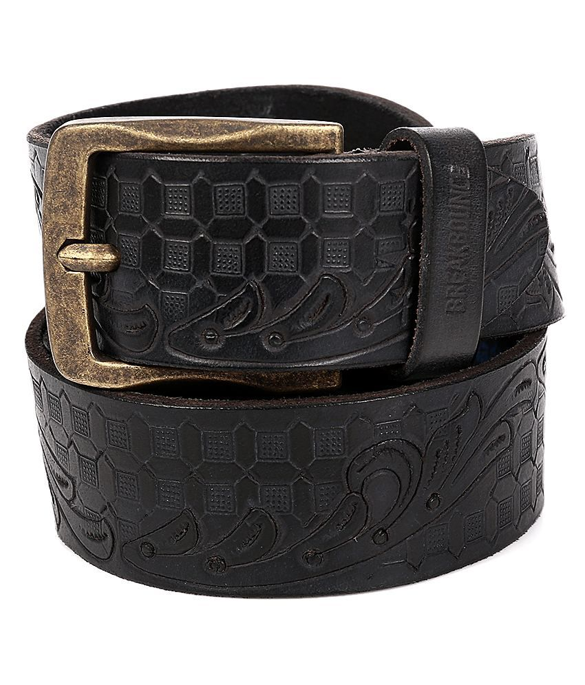 Breakbounce Black Leather Belt