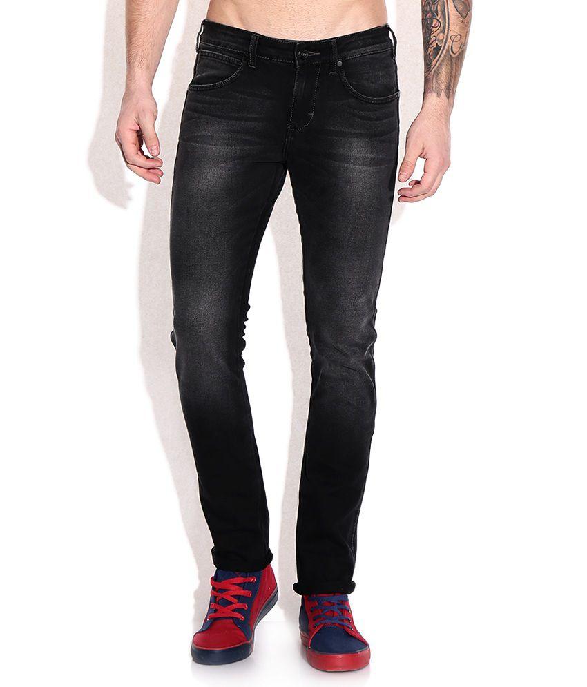 Wrangler Black Faded Jeans