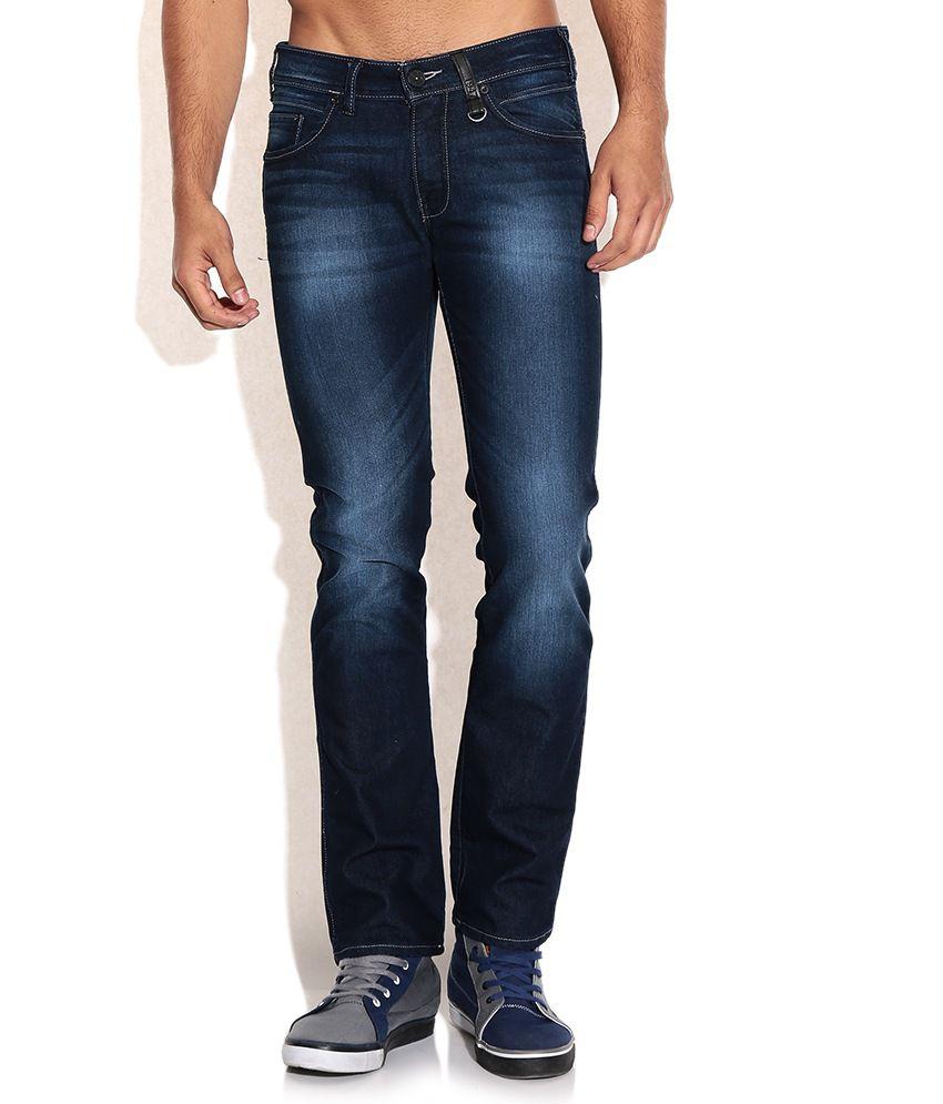 buy wrangler blue slim fit jeans on snapdeal. Black Bedroom Furniture Sets. Home Design Ideas