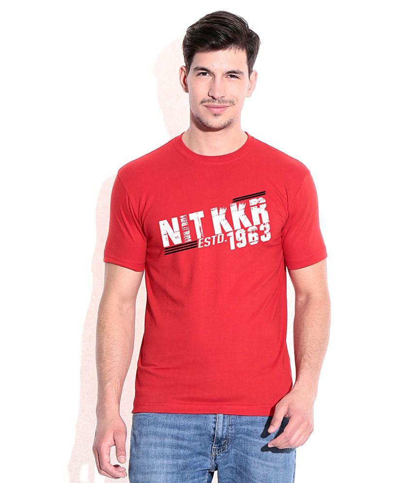 NIT KKR Vibrant Red CampusMall T-Shirt