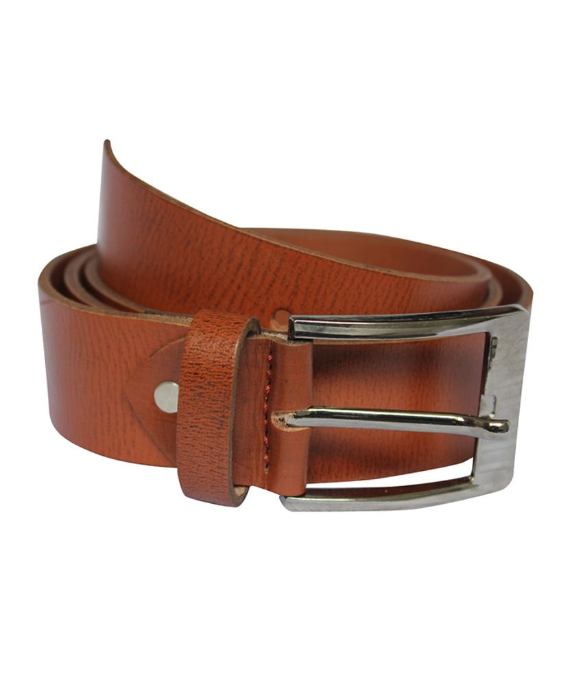 Rags Fashionable pour leather men's Brown belt