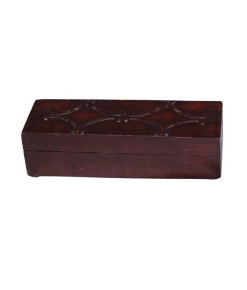 Onlineshoppee Wooden Beautiful Jewellery Box with Handicraft Design