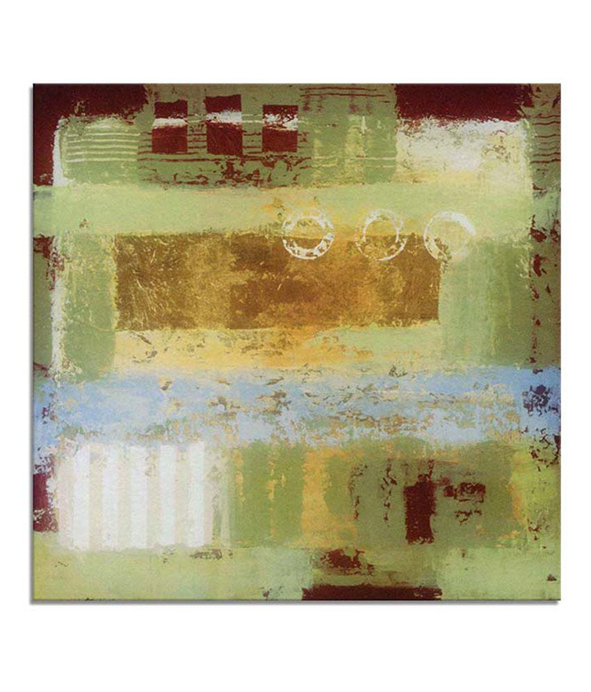 Painting Mantra Abstract green Painting Canvas Print Wall Hanging