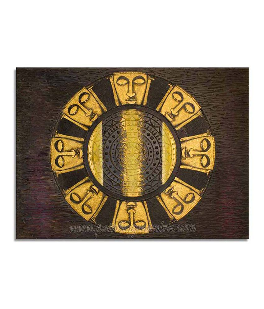 Painting Mantra Ashth Buddha Painting Canvas Print Wall Hanging