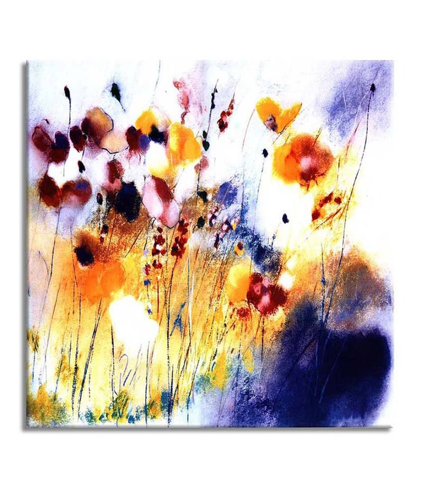 Painting Mantra Flowers Painting Canvas Print Wall Hanging