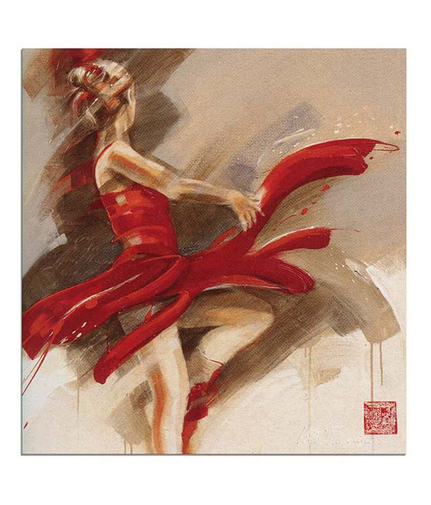 Painting Mantra Lady in red Painting Canvas Print Wall Hanging