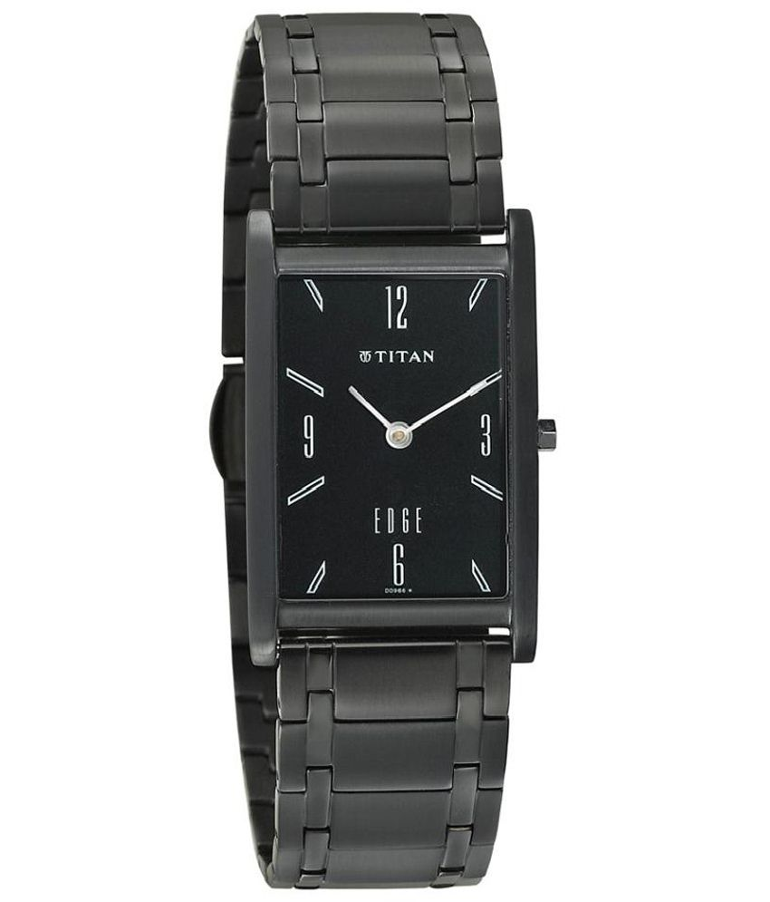 titan black analog titan edge party wedding watch 1043nm01
