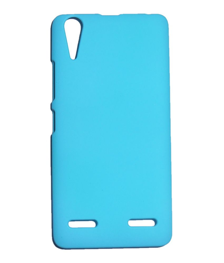official photos 74a8a 73374 Mercator Rubberized Hard Case Back Cover for Lenovo A6000 Plus (Cyan)