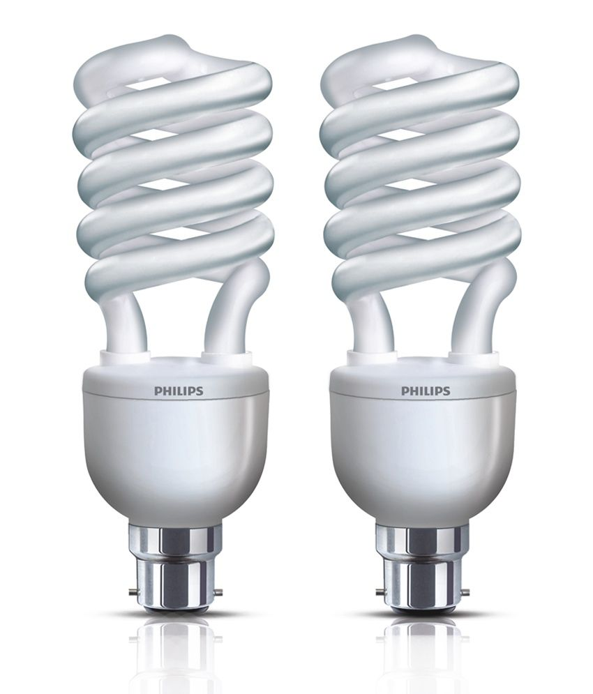 Philips Cfl Pack Of 4 Tornado(spiral) Bulbs 45 Watt