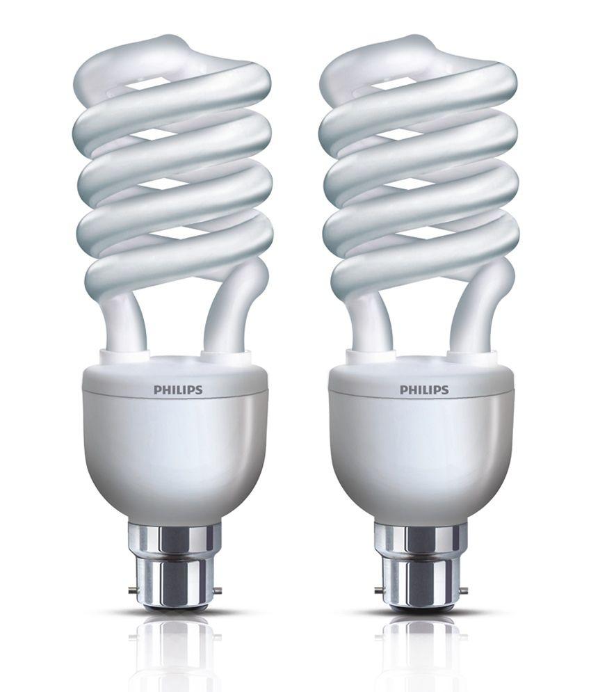 Philips Cfl Pack Of 4 Tornado(spiral) Bulbs 27 Watt: Buy ...