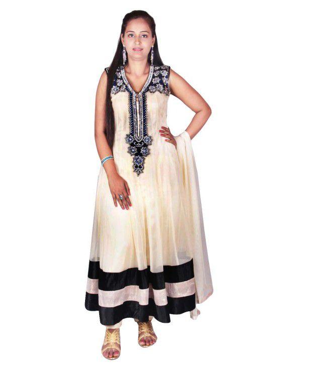Uni Fashion Fair Net Embroidered Stitched Salwar Suit