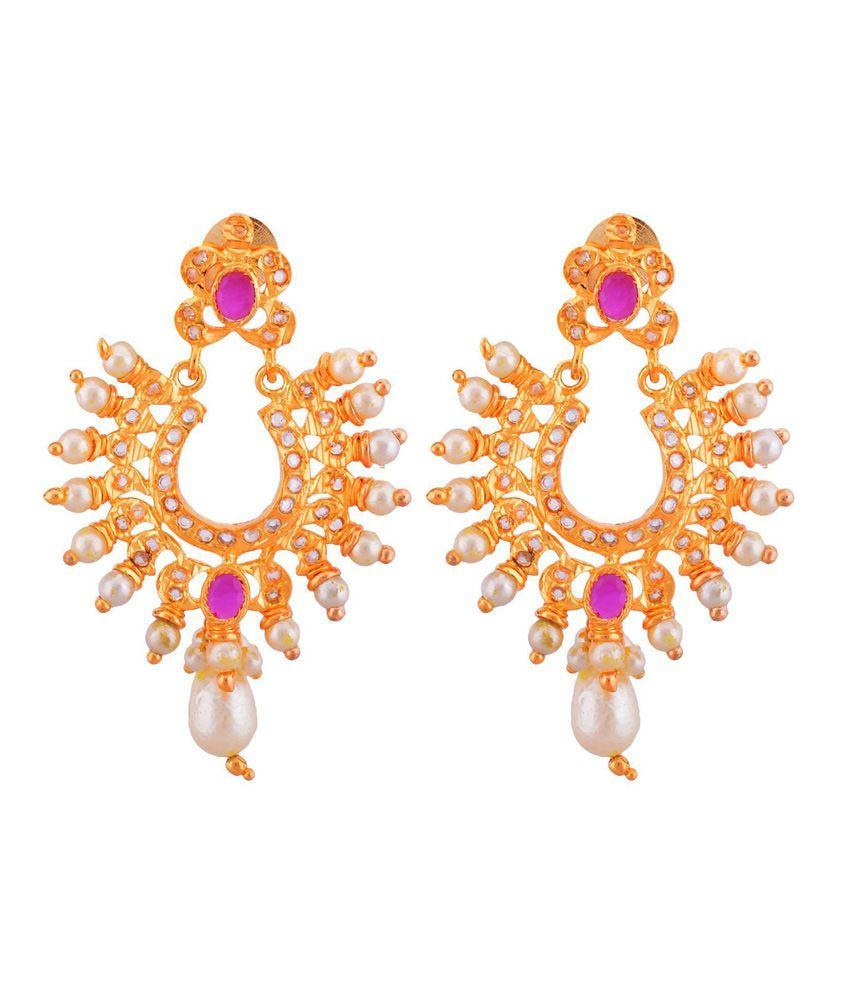 Jnb Jewellers Pink Antique Drop Screw Back Earings