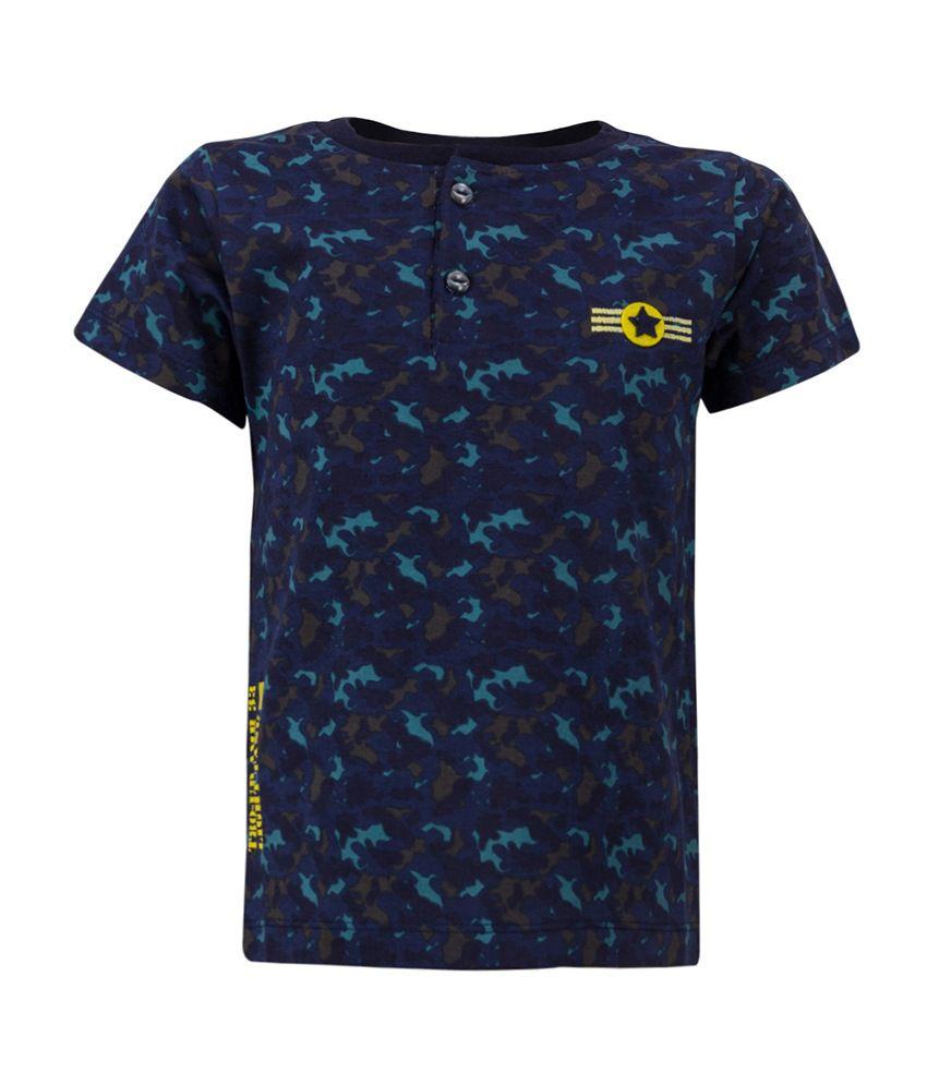 Tickles Blue Cotton T Shirt Buy Tickles Blue Cotton T