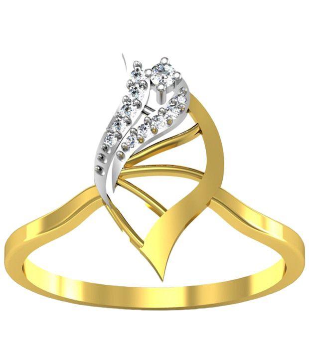 Avsar Alluring 18kt Gold & Real Diamond Kajal Ring For Women