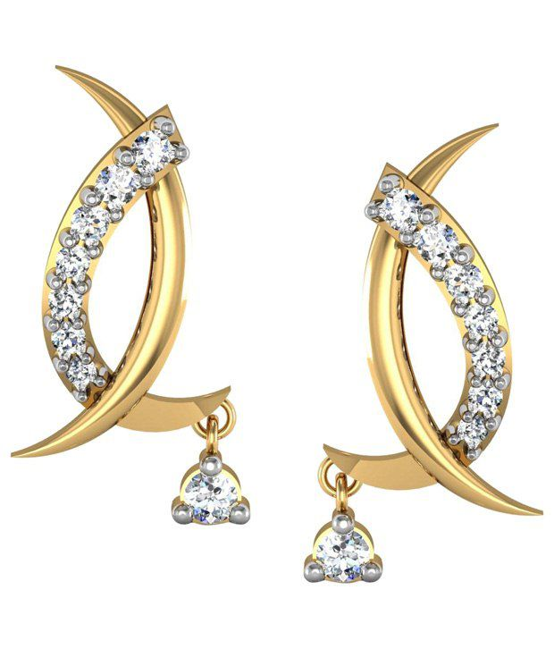 Avsar Magnificent 18kt Gold & Real Diamond Stud Earrings