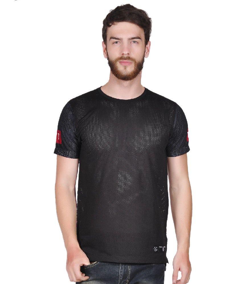 Tiktauli de. Corps. Polyester Black Fordam Back Floral T-Shirt