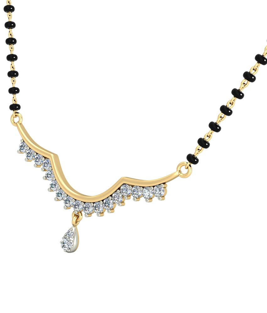 The Reisha Diamond Mangalsutra 14KT Gold WearYourShine by PC Jeweller