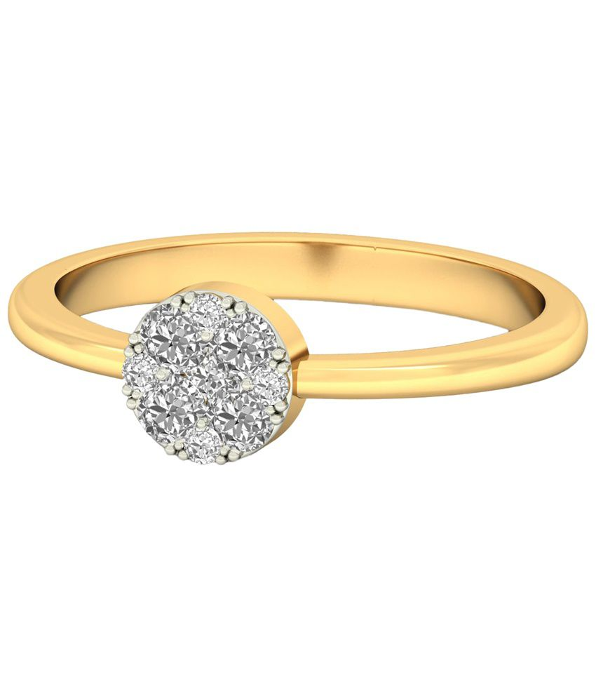 The Hilaria Diamond Ring 14KT Gold WearYourShine by PC Jeweller