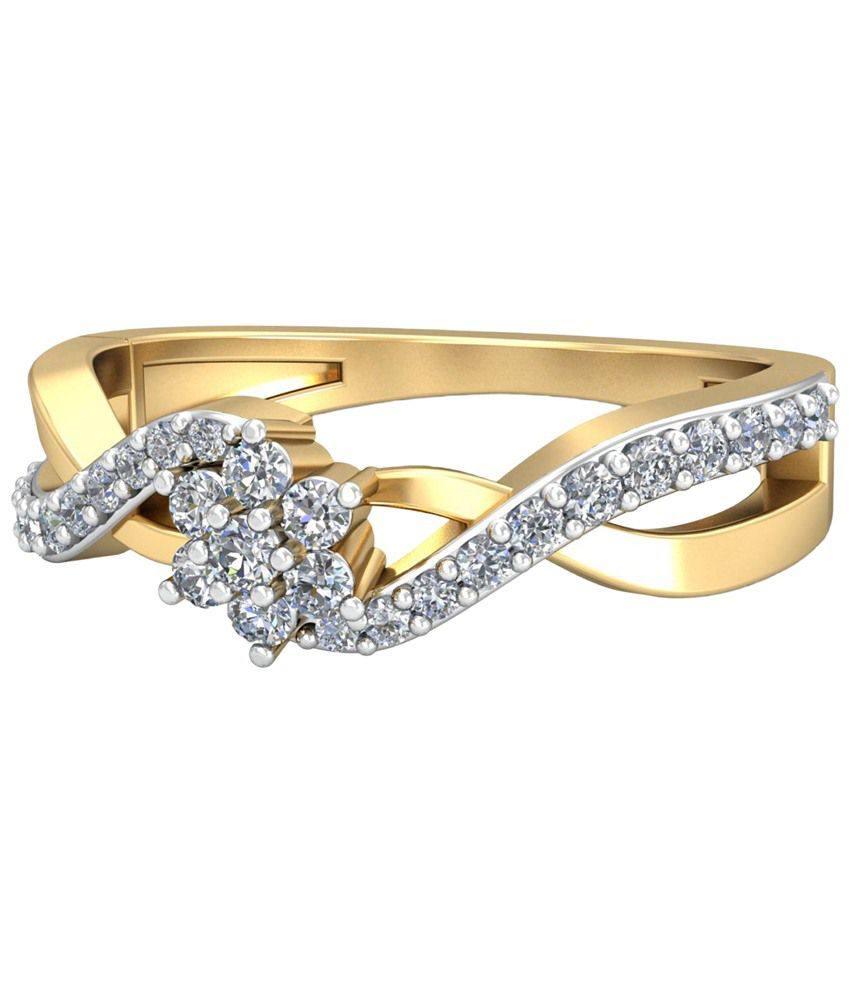 The Chloe Diamond Ring 14KT Gold WearYourShine by PC Jeweller